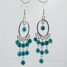 Turquoise Earrings beaded jewelry,plated q004 : OK Charms, China Wholesale Jewelry Accessories Marketplace