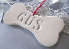 Personalized Dog Christmas Ornament with Name