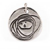 Doodle Tag. Upload your child's artwork and have it made into a recycled silver pendant.