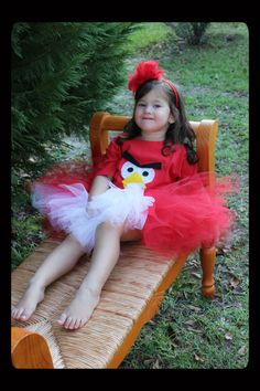 Red Angry Bird tutu costume by BarefootGracie on Etsy. $40.00.