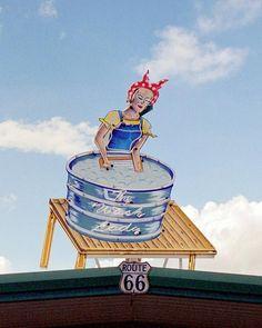 The Wash Lady, Route 66, Tucumcari, New Mexico
