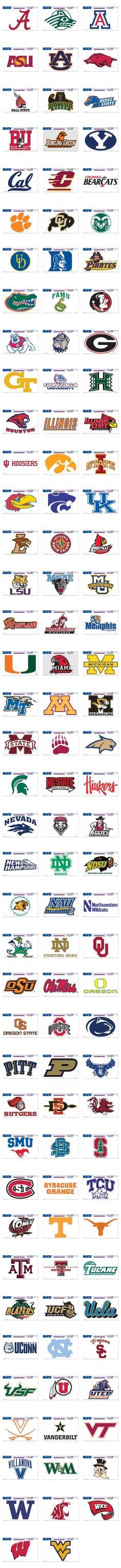 NCAA College Football Cornhole Decals - Custom Corntoss