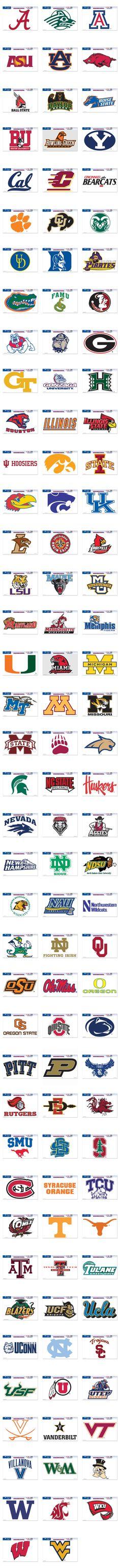 NCAA College Football Cornhole Decals - Custom Corntoss