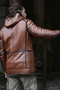2019 New Mens Sheepskin Coat Hooded Leather Jacket Fur Coat Long Mens Winter Coat Mens Shearling Jacket, Fur Jacket, Fur Coat, Leather Jacket With Hood, Leather Coats, Mens Winter Coat, Winter Jackets, Sheepskin Coat, Clearance Shoes