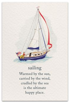 Inside Message: Wishing you sailing's sense of peace, freedom, adventure & joy today. Tarot, Grief Support, Symbols And Meanings, Spiritual Symbols, Life Page, Card Sayings, Beach Quotes, Flower Quotes, Meaning Of Life