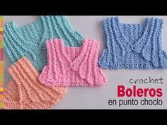 Boleros en punto choclo o maíz tejidos a crochet para bebés y niñas - Tejiendo Perú - YouTube