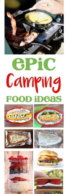 Camping Food Ideas and Easy Recipes! Make ahead meals, genius hacks, and epic desserts to make your next campout the best ever! |TheFrugalGirls.com #campingmealsmakeahead #campingfoodmakeahead
