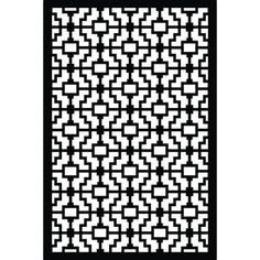 Acurio Latticeworks Fret 32 in. x 4 ft. Black Vinyl Decorative Screen Panel - - The Home Depot Home Depot, Vinyl Dekor, Decorative Screen Panels, Arbors Trellis, Building A Fence, Landscaping Supplies, Aesthetic Beauty, Decks And Porches, Fence Panels