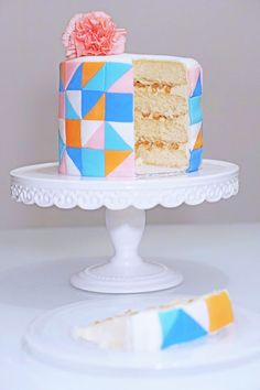Vanilla Cake with Caramelized Pear and Salted Caramel Buttercream