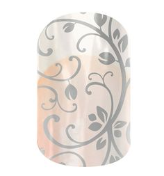 Silver Floral.  On clear - great formal accent for any nail color  Jamberry Nail Wraps   www.nailparty.jamberrynails.net