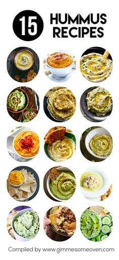 15 Hummus Recipes -- from creative to classic, these creamy dreamy hummus recipes are sure to be crowd favorites. Healthy Hummus Recipe, Healthy Snacks, Healthy Eating, Homemade Hummus Recipe, Classic Hummus Recipe, Clean Eating, Vegetarian Recipes, Cooking Recipes, Healthy Recipes