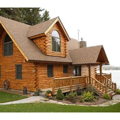 Roberts Log Home constructed by Hidden Valley Log Homes of Madison OH.