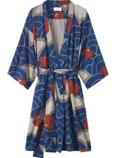 Indigo / Smoke / Deep Red Viscose Cotton Slub Gown | Toast