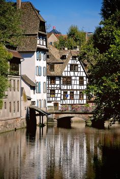 Canal - Reflection - Half-timbered - Square des Moulins - Rue des Moulins - Strasbourg - Alsace - France
