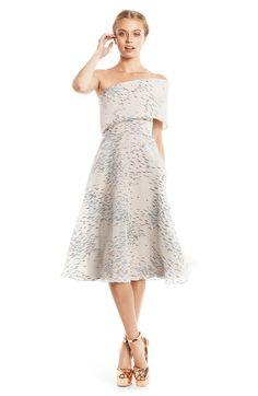 Metallic Minnow Fil Coupe One Shoulder Dress