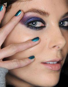 #eyeshadow #blue #purple