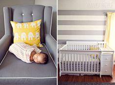 Gray and Yellow nursery   photo by Amanda Patrice