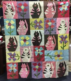 "Janet Rae Nesbitt on Instagram: ""Gloria has been #piecinglikecrazy -she shared her New Crazy Fat Cats that she just finished for her granddaughter- don't you love these…"" Landscape Quilts, Like Crazy, Fat Cats, Barn, It Is Finished, Blanket, Love, Fabric, Instagram"