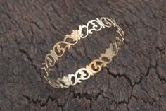 $40.00 Golden Flower Bangle, Floral Crowns Filigree Bracelet, Lace Inspired, Shabby Chic Jewelry- Ready to Ship on Etsy,