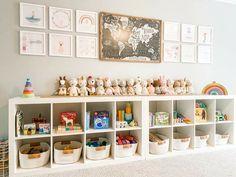 Loft Playroom, Small Playroom, Toddler Playroom, Playroom Design, Playroom Decor, Kids Room Design, Playroom Shelves, Montessori Playroom, Playroom Layout