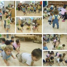 "The Caterpillar 2's decided to turn their ""Feet Around the Room"" activity into a chance to BE the animals they had learned about earlier in the morning! They had trunks like elephants, ran like cheetahs, and crawled like lions, and tiger, and bears…oh my!"