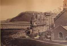 """1860s ABERYSTWYTH Wales - The original Castle Hotel - Albumen Photo 6"""" by 4"""" in Collectables, Photographic Images, Antique (Pre-1940)   eBay"""