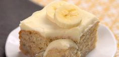 Delightful Banana Cake Header. Cut frosting in half, it makes way too much.  This was very good...banana bread as a cake.