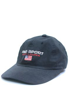POLO SPORT ロゴキャップ BLACK (USED&VINTAGE) ¥7,000(TAX IN)