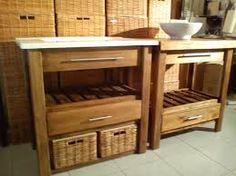 Resultado de imagen para mesada de baño de madera Decor, Kitchen Cart, Bathroom Design, Osb, Indoor, Deco, House, Interior, Home Decor