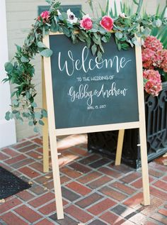 Greenery wedding sign: Photography: Courtney Leigh - http://courtneyleighphoto.com/