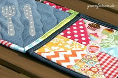 Untersetzer aus Stoffresten / Coasters made from scraps of fabric / Upcycling