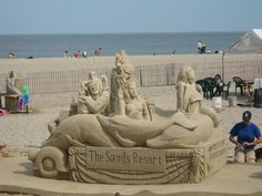 Hampton Beach, NH, sand sculpture competition - worth the visit.