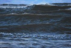 """Towering waves at Swansea"". x acrylic on linen - Welsh Artist - Vernon W. Seascape Art, Stormy Sea, Swansea, Close Image, Vernon, Art For Sale, Original Artwork, Waves, Scene"