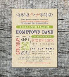 Casual Wedding Invitations on Pinterest | Casual Wedding ...