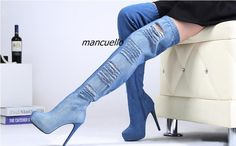 New arrival: Trendy Light Wash... Buy it now: http://simplysonya731.net/products/trendy-light-wash-blue-jeans-thigh-high-boots-sexy-denim-cut-out-stiletto-heel-platform-boots-women-fashion-shoes-new-arrival?utm_campaign=social_autopilot&utm_source=pin&utm_medium=pin