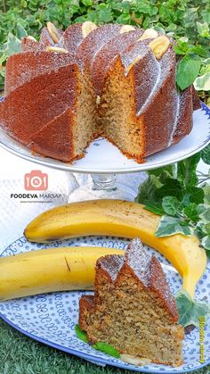 Delicious Moist Banana Cake   Foodeva Marsay Moist Banana Cake Recipe, Banana Bundt Cake, Glace Icing, My Recipes, Cake Recipes, Food Words, Cake Flour, Your Recipe, Cake Batter