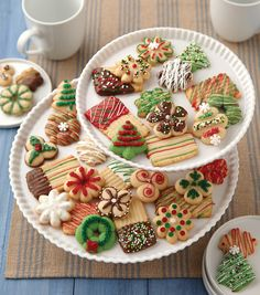 Christmas Spritz Cookies  Iu0027ve Never Decorated My Spritz Cookies With  Frosting Or Decorator Icing, This Looks Fun!