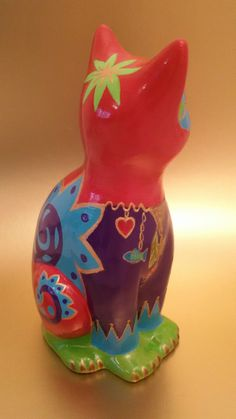 """Statue of cat """"Royaume"""" ceramic, decoration or collection by Nadine Cuzin   eBay"""