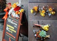 detalles de una boda de otoño