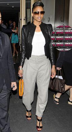 Ciara totally pulling off harem pants
