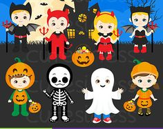 HALLOWEEN Digital Clipart Halloween Clipart Trick or Treat