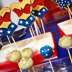 Lollipop biscotti wonder woman