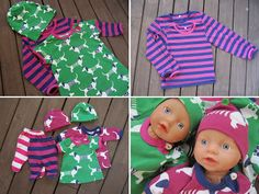 Murusia: Hau-hau siellä ja hau-hau täällä ja ihan joka puolella hau-hau! (sis. kaavat ja ohjeet nukenvaatteisiin) Sissi, Baby Born, Doll Clothes, Dolls, Face, Crafts, Bb, Craft Ideas, Furniture
