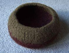 crochet felt bowl for men