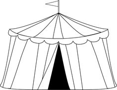 Circus Tent Clip Art Image - black and white  sc 1 st  Pinterest & Circus u0026 Clowns color page coloring pages color plate coloring ...