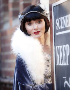 Essie Davis as Phryne Fisher in Miss Fisher's Murder Mysteries (TV Series,  2012).