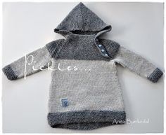 Anitas kreative side: Oslo-anorakk Baby Kind, Oslo, Baby Knitting, Knit Crochet, Craft Projects, Hoodies, Children, Sweaters, Crocheting