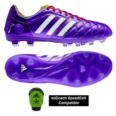 low priced 7c187 1e986 Adidas adiPure 11Pro TRX FG Soccer Cleats (Blast PurpleWhiteBerry)