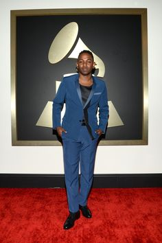 Kendrick Lamar arrives at the 56th Annual GRAMMY Awards on Jan. 26 in Los Angeles