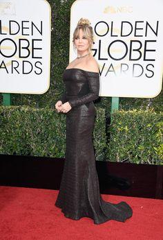 Golden Globes 2017 Goldie Hawn in a Prabal Gurung dress